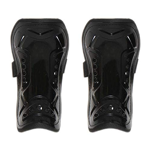 July miracle Shin Pads Adult Black Perforated Breathable Soccer Shin Guards Boardfor Football Games Leg Calf Protective Gear