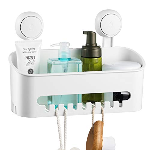 ilikable Vacuum Shower Caddy Suction Cup No-Drilling Removable...