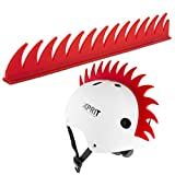 XPRIT Mohawk, Warhawk Wig Accessory Adhesive/Stick On Helmet for Skateboarding, Dirt-Bikes, Motorcycle, Cycling (Red Warhawk)