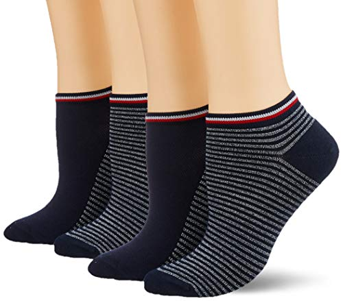 Tommy Hilfiger TH Women Resort Sneaker 2p, Calze Donna, Multicolore (Midnight Blue 563), 39/42...