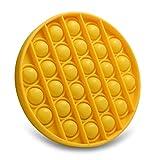 GODR7OY Push Pop Pop Bubble Sensory Fidget Toys Giocattoli Educativi per Alleviare Lo Stress Adatti per L'autismo L'ADHD La Depressione o Giocattoli Educativi(Giallo )