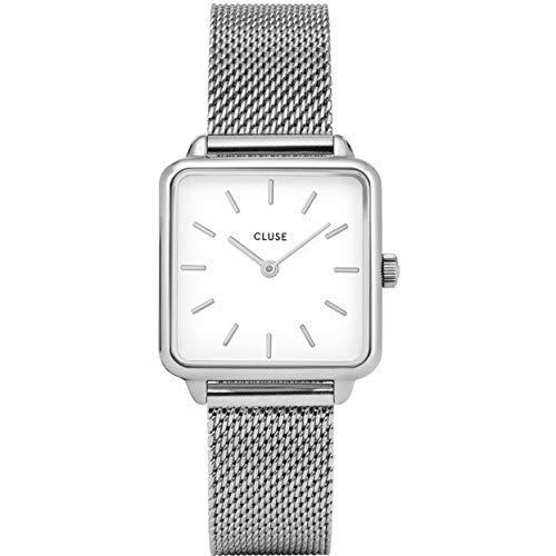 CLUSE La Garçonne , Damen Armbanduhr, Silber Mesh / Weiß