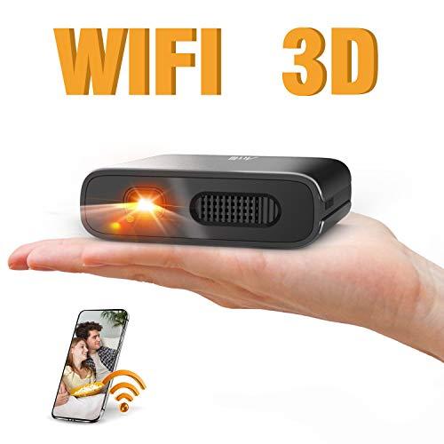 Artlii Mana Mini Beamer - WiFi Beamer DLP BeamerUnterstützt 3Dund 1080PEingebaute 5200mAh KleinBeamerUnterstützt AirPlay MiracastKompatibel Smartphone/Laptop/TV-Stick für Heimfitness