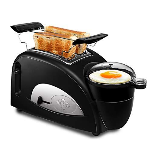 EnweLampi Toaster Brotbackautomaten, Mit 2 Extra Große Schlitze, Eierkocher Elektrische Grillpfannen Für Toaster/Backen/Dampf/Kochen/Braten Edelstahl Frühstücksmaschine