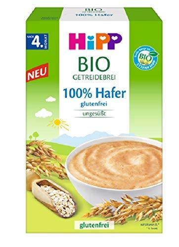 Hipp Bio-Getreide-Breie ungesüßt, 100% Hafer, glutenfrei, 6er Pack (6 x 200 g)