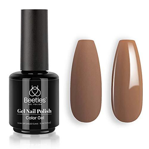 Beetles Gel Polish Beyonce Caramel Color 15ml Nail Gel Brown Nail Gel Soak Off LED Nail Lamp Gel Polish Nail Art Manicure Salon DIY Home Christmas Gel 0.5Oz