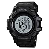 Skmei Digital Plastic Watches Pupils Wristwatch Waterproof Digital Watch Sport Watches for Men (Black Large)