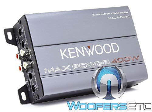 Kenwood KAC-M1814 4-Channel Compact Bridgeable Marine/Motorsports 400W Max Power Digital Amplifier