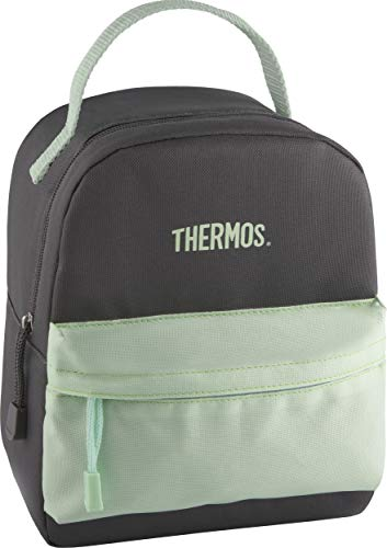 Thermos Mini Bag, Gray/Mint insulated lunch tote, one size