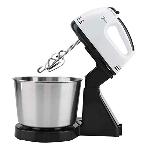SQUICKLE 7-Speed Mixer Machine Electric Hand Whisk Egg Beater Baking Blender Mixing Bowl