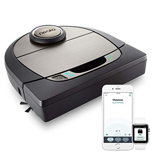 Neato Robotics D7 Aspirateur Robot Intelligent - Compatible avec Alexa - Robot aspirateur avec station de charge, Wi-Fi & App