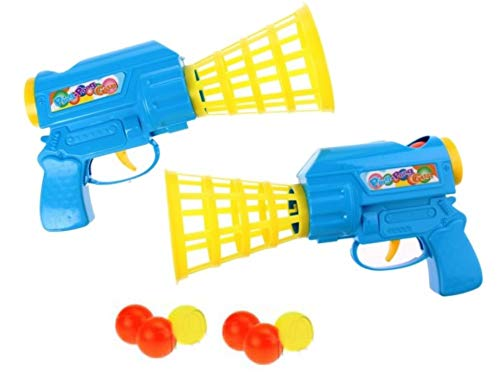 HALO NATION Ping Pong Gun Ping-Pong Catchball Game , Set of 2 Ping Pong Launcher Gun with 6 Balls