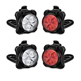 Akale Rechargeable Bike Lights Set, LED Bicycle Lights Front and Rear, 4 Light Mode Options, 650mah Lithium Battery, Bike Headlight, IPX4 Waterproof, Easy to Install for Men Women Road 2 Pack