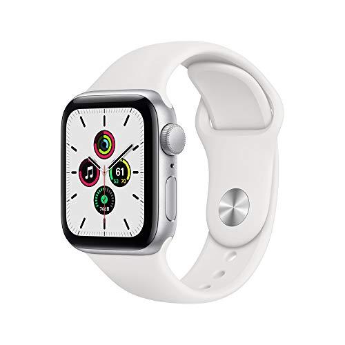 AppleWatch SE (GPS, 40 mm) Caja de aluminio en plata - Correa deportiva blanca