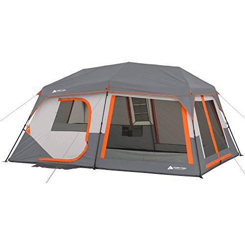 Ozark Trail Instant Cabin Tent with Built in Cabin Lights, Sleeps...