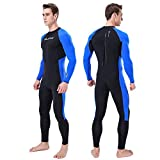 iCJJL Men Women Full Body Dive Wetsuit Sports Skins Lycra Rash Guard, UV Protection Long Sleeve One Piece Swimwear for Snorkeling Surfing Scuba Diving Swimming Kayaking Sailing Canoeing