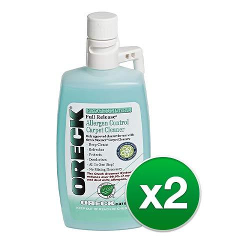 Oreck 40257-01 Full Release Allergen Control Carpet Cleaner with Bundles (Oreck Cleaner (2 Pack))