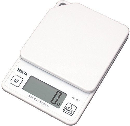 タニタ はかり スケール 料理 1kg 1g デジタル ホワイト KD-187 WH
