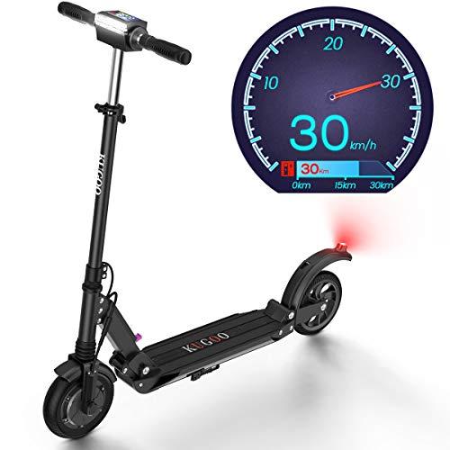 urbetter Monopattino Elettrico, 30 Km di Autonomia, velocità Fino a 30 Km/h, 350W Scooter Elettrico Pieghevole Unisex Adulto - S1 (Nero)