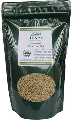 Hunza Organic Green Lentils (2 lbs)