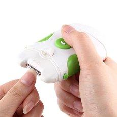 Recortadora de uñas eléctrica, Profesional Recortadora de uñas eléctrica Segura 2 en 1 450 RPM Cortadora de uñas de Doble Uso Herramientas de manicura cortapelos Seguras y fáciles de operar