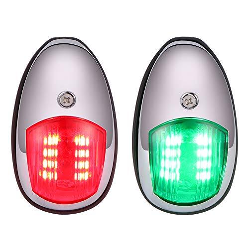 ONEVER Universal LED Navigationslicht Lampe Signallampe 12-24V Boot Yacht LKW Anhänger Van Für Ponton, Yacht, Fischerboot