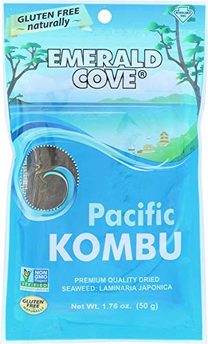 Emerald Cove Silver Grade Pacific Kombu (Dried Seaweed), 1.76 Ounce Bag