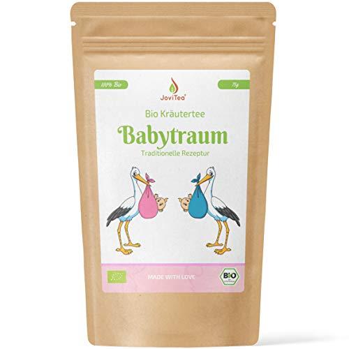 JoviTea® Babytraum Tee BIO – Traditionelle Rezeptur - spezielle Kräutermischung – aus kontrolliert biologischem Anbau. 100% natürlich und ohne Zusatz von Zucker - 75g