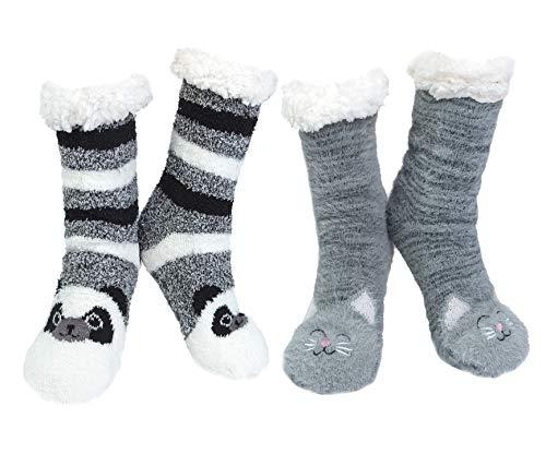 2paia Calze da Pantofole Donna Antiscivolo Termiche Calzini Donna Divertenti Fantasia Invernali...