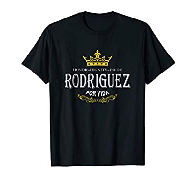 Looking for an awesome Rodriguez family reunion shirt? We've got you covered with this cool Rodriguez shirt design! Rodriguez Por Vida Tshirt Lightweight, Classic fit, Double-needle sleeve and bottom hem