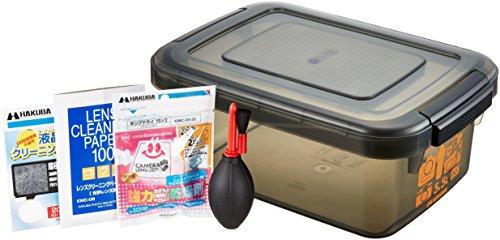 【まとめ買いセット】HAKUBA ドライボックス 5.5L スモーク メンテナンス用品 3点SET (ブロア、液晶クリーニングペーパー、レンズクリーニングペーパー) HTMB-YM
