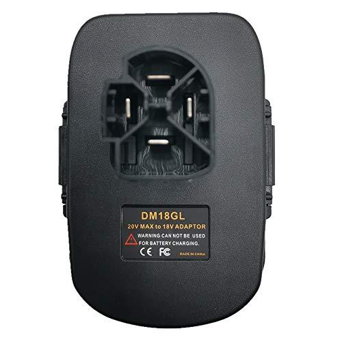 DM18GL Battery Adapter for Milwaukee 18V and for Dewalt 18V Lithium Battery Convert to for Craftsman 19.2 Volt Battery