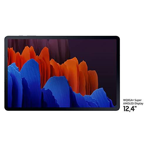 """Samsung Galaxy Tab S7+ - Tablet Android WiFi de 12.4"""" I 128 GB I S Pen Incluido I Color Negro [Versión española]"""