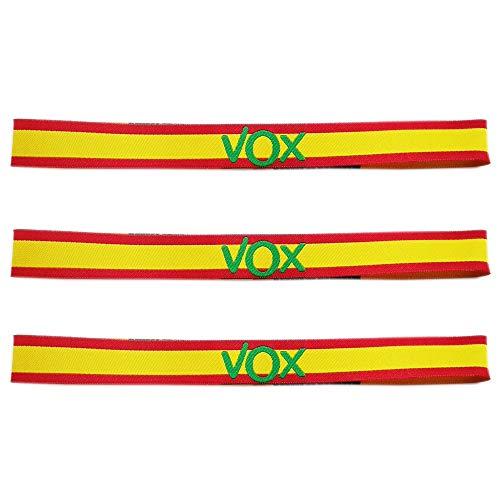 LTL 3 x Pulseras de Tela VOX, con los Colores de la Bandera