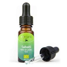 Bio-Salbeiöl (Salvia Officinalis) – charakteristische Farbe, balsamisch-süßer Duft – zum Aromatisieren und Würzen von Speisen und Getränken – 100% naturreines ätherisches BIO-Öl - 10ml