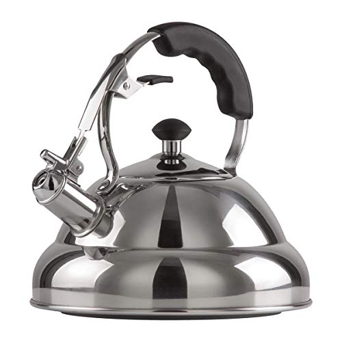 Chef's Secret 2.75-Quart T-304 Stainless-Steel Tea Kettle, a...