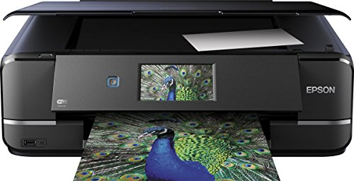 Epson Expression Photo XP-960 3-in-1 Tintenstrahl-Multifunktionsgerät Drucker (Scannen, Kopieren, WiFi, Ethernet, Duplex, Einzelpatronen, 6 Farben, DIN A3, Amazon Dash Replenishment-fähig) schwarz