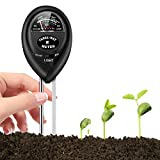 Soil pH Meter, 3-in-1 Soil Tester Kits with Moisture, Moisture Meter& Water Monitor, Light and PH Test for Garden, Farm, Lawn, Indoor and Outdoor