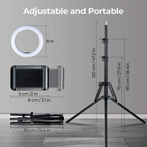 VicTsing-Double-8-Ring-Light-with-Stand-and-Phone-Holder-Selfie-Ring-Light-with-Tripod-Stand-for-Video-Vlog-Photography-9-Light-Modes-128-Bulbs