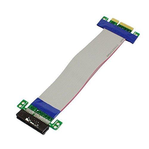 PCI-Eフレックスケーブル,SODIAL(R) PCI-E 4Xスロットライザーカードの拡張 フレキシブルフレックス再配置ケーブル