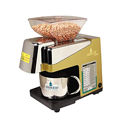 Seeds to Oil S2O-2A Oil Extractor Machine (Gold, White, 450 Watts)