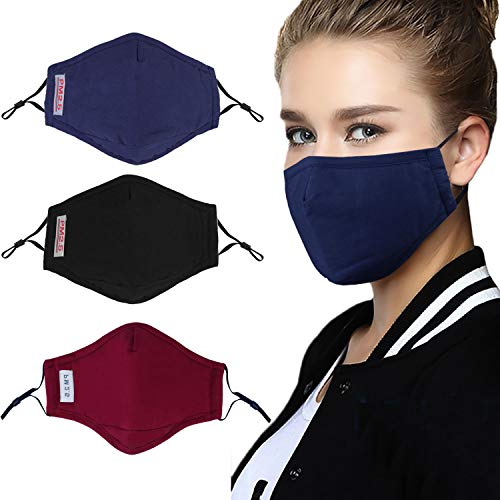 Fansport 3PCS Mouth Mask PM2.5 Anti-Fog Anti-dust Mask Mouth Cover Mask with Filter Pad for Outdoor