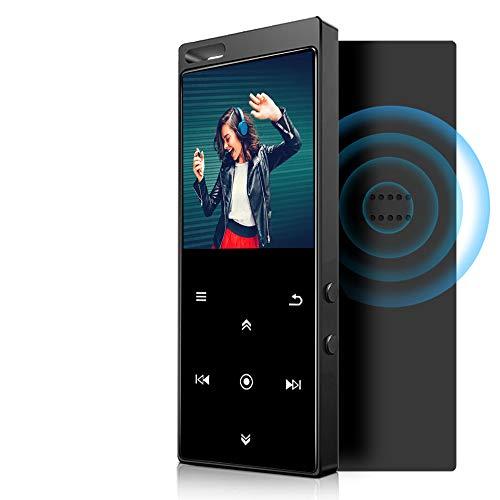 Lecteur MP3 de 32 Go, Lecteur MP3 avec Bluetooth 4.2, avec Radio FM, Enregistrement, écran de 2,4 Pouces, Haut-Parleur HD intégré, Son sans Perte HiFi, Prise en Charge maximale de 128 Go