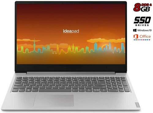 Notebook Lenovo Silver 8 Gb DDR4, SSD da 256Gb cpu Amd A4 fino a 2,6GHz in Burst Mode, Display Hd da...