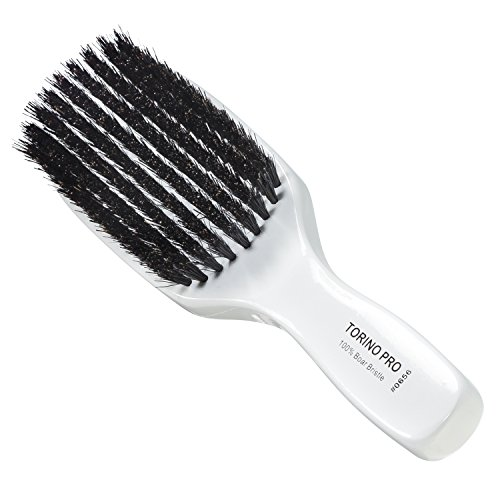 Torino Pro Wave Brush #0656 By Brush King - 9 Row, Medium Wave Brush - Made with 100% Boar Bristles -True Texture Medium - All Purpose 360 Waves Brush - Great Pull