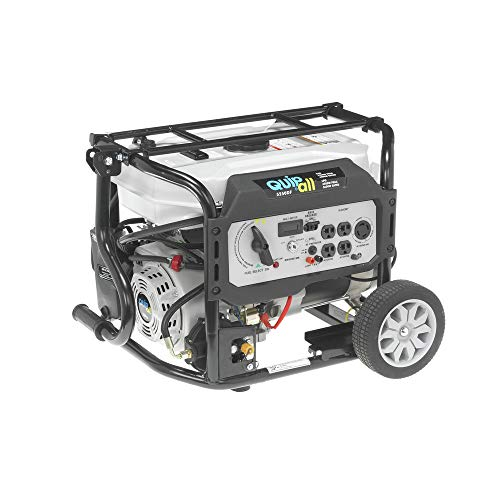 Quipall 5250DF Dual Fuel Gas Portable Generator with Electric...