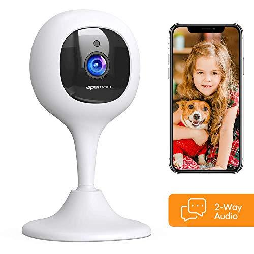 Apeman FHD 1080P Baby Monitor Telecamera wifi Interno,Videocamera di Sorveglianza Telecamera IP con Rilevazione del suono e del Movimento,Compatibile con Alexa, Visione Notturna, Audio Bidirezionale