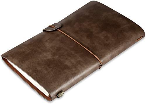 Journal de voyage en cuir, journal de voyage en cuir, remplaçable, carnet...