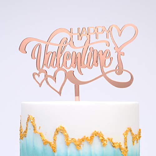 Love Cake Topper Used for Valentine's Day,Most Meaningful Valentine Gift to Her,Heart Shape Cake Topper for Lover