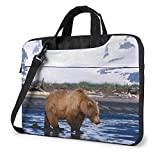 Bolsa de hombro para portátil de 15,6 pulgadas, funda protectora de oso